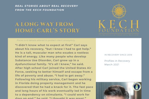 Profiles in Recovery Carl